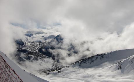 Montgenèvre, percée dans les nuages