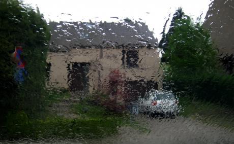 Tableau tracé à la goutte de pluie