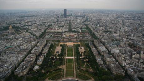 Panorama du sommet de la Tour Eiffel
