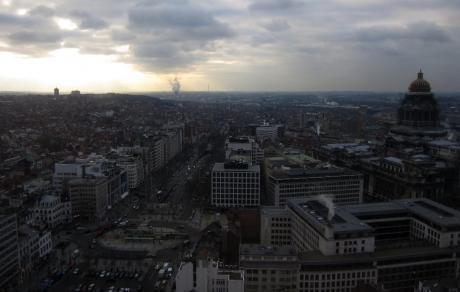 Hilton, 26ème étage, Bruxelles, face sud