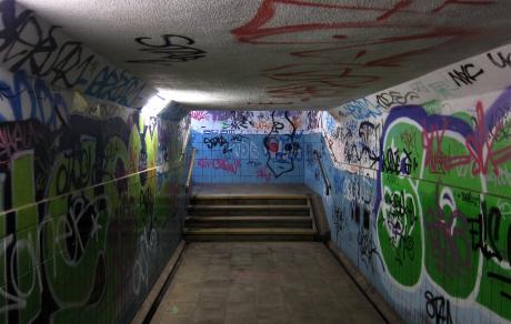Graffiti à la gare de Watermael
