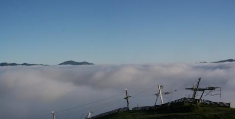 Montgenèvre, sommet des pistes sans neige