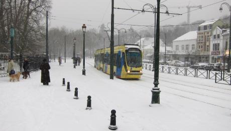 Tram 94 sous la neige