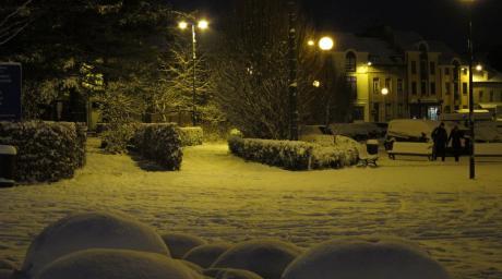 Place Wiener sous la neige